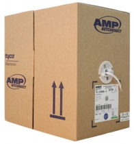 AMP Category 5e UTP Cable, 4-Pair, 24AWG, Solid, PVC, 305m, White (4-1427260-2)